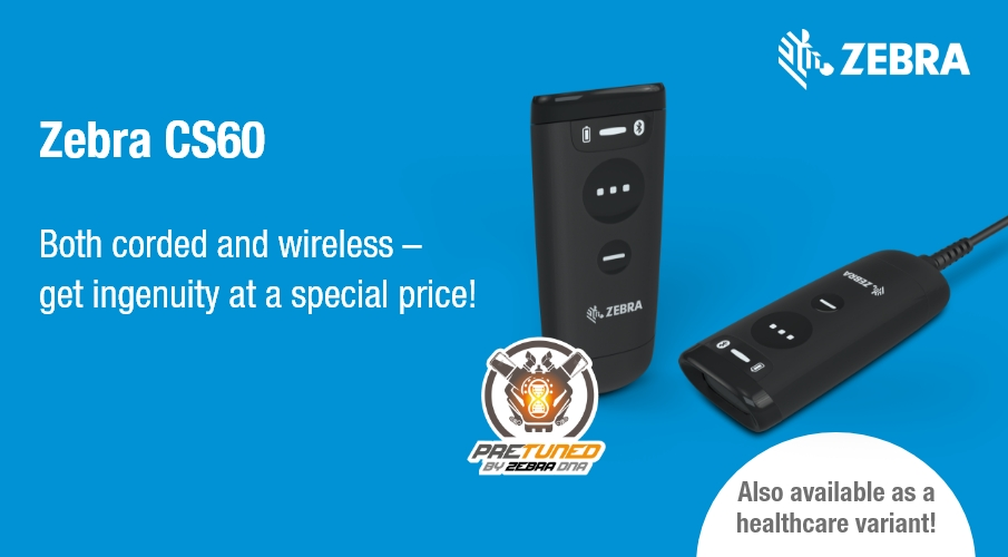 Profit now with Zebra's handy companion scanner at a discount!*