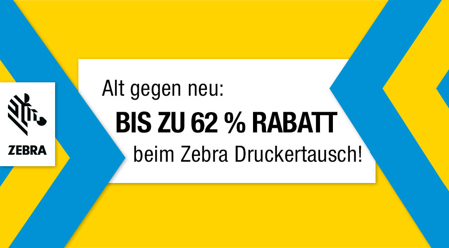 Alt gegen neu: Großer Rabatt beim Zebra Druckertausch!
