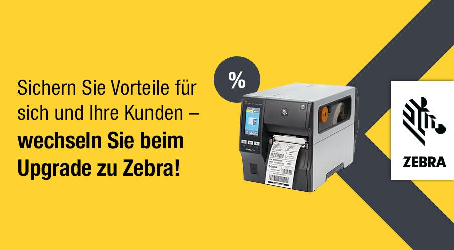 Ersetzen Sie abgekündigte Drucker und nutzen Sie den Preisvorteil von Zebra!*